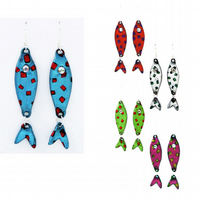 Spotty fish earrings