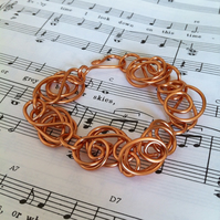 Handmade Freeform Copper Wire Bracelet