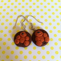 Handmade Novelty Hedgehog Earrings