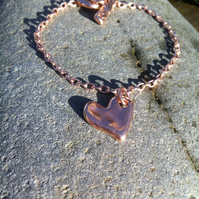 Rose Gold Heart Bracelet.