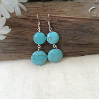 Gem Turquoise Earrings.     December Birthday