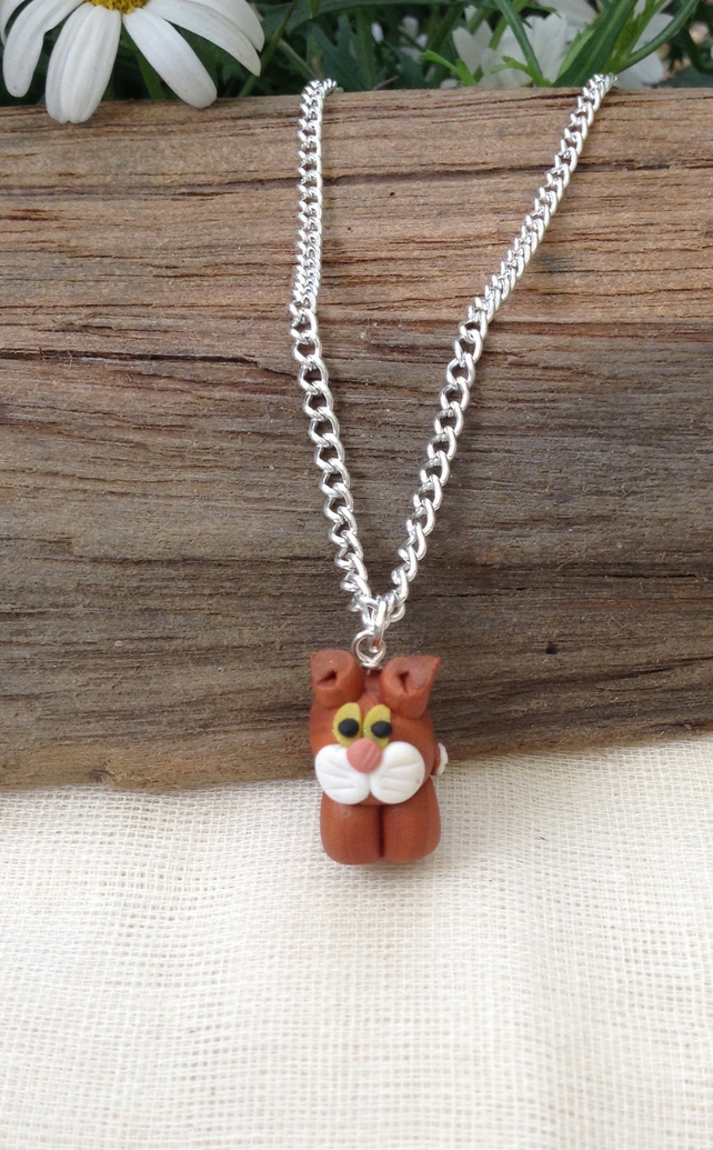 Marmalade Cat Necklace