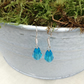 Aqua  Teardrop Crystal Earrings