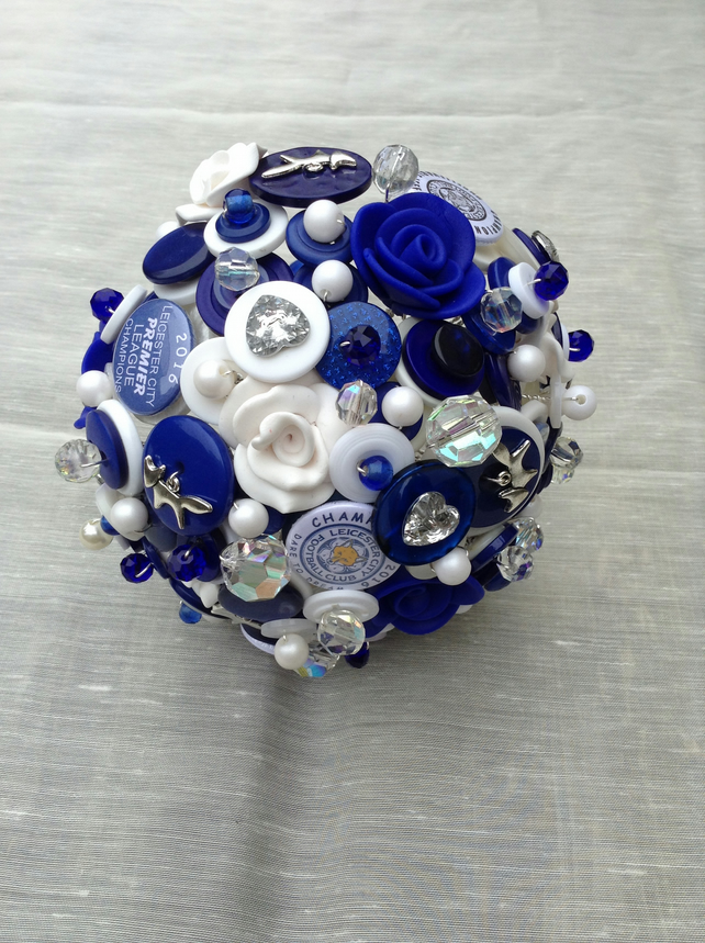 Leicester City Themed Button Bouquet  Foxes Keepsake Bouquet