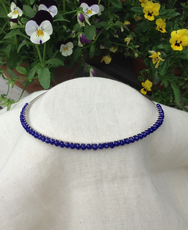 Royal Blue  Crystal Tiara.   Crystal Hairband   Blue Tiara