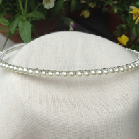 Pearl Tiara. vory Pearl Tiara.  Bridesmaids Hairband. Flower Girl Hairband