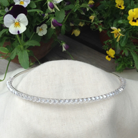Crystal Tiara.   Crystal Hairband