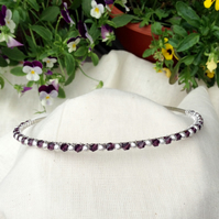 Purple  Crystal and Silver Sparkle Tiara.   Crystal and Silver Hairband