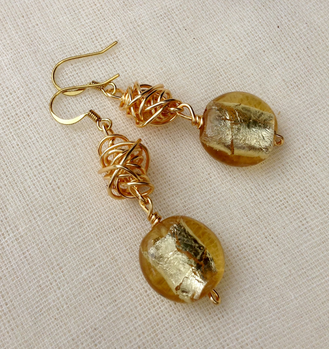 Chunky Gold Twist Earrings