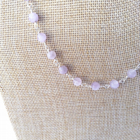 Cloudy Amethyst Necklace.  February Birthstone   Gemstone Necklace
