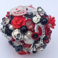 Rockabilly Bouquet. Keepsake Bouquet. Alternative Wedding Bouquet