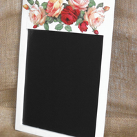 Decorated Chalk Board Blackboard Vintage Roses Shabby Chic Country Decoupage