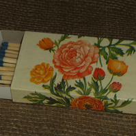Decorated Matchbox Pretty Floral Napkin Decoupage Candles Kitchen Dining