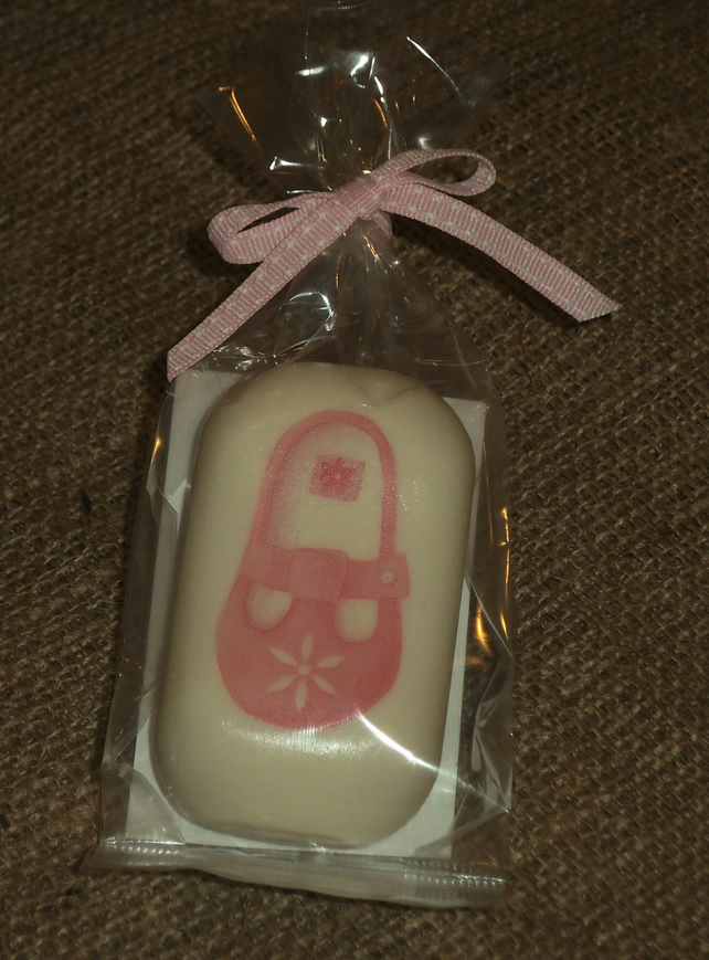 Attractive Unusual Decorated Soap Baby Girl Shoe Shower Gift