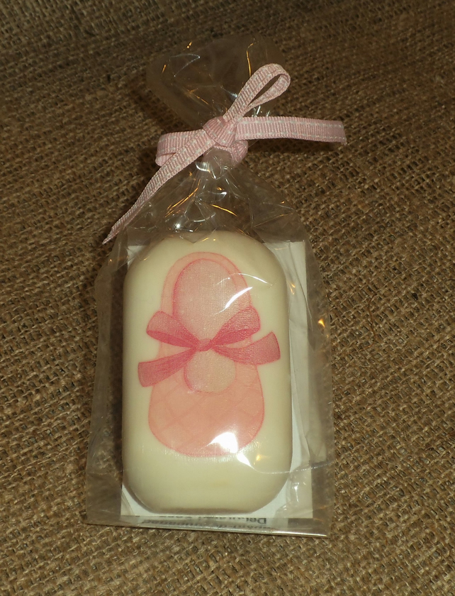 Unusual Pretty Decorated Soap Baby Girl Shoe Shower Gift