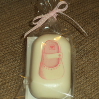 Attractive & Unusual Decorated Soap Baby Girl Shoe Shower Gift