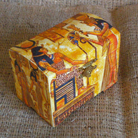 Egyptian Trinket Jewellery Treasures Wooden Small Chest Box Gift Unusual