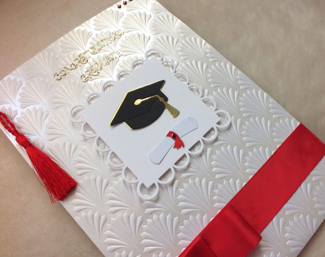 Luxury Handmade Graduation Card