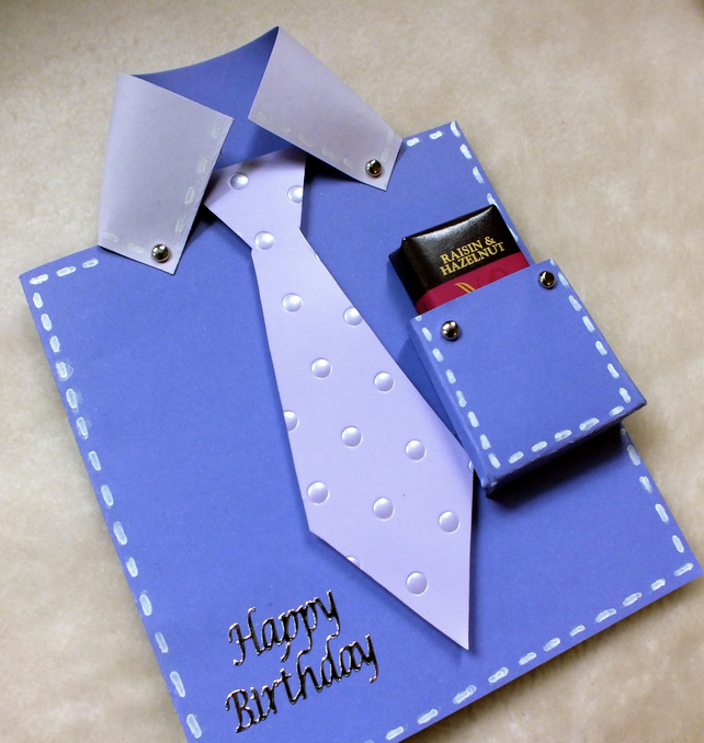 Handmade Birthday Shirt Tie Card With Fre Folksy Homemade Ideas For Dad From Daughter Daddy
