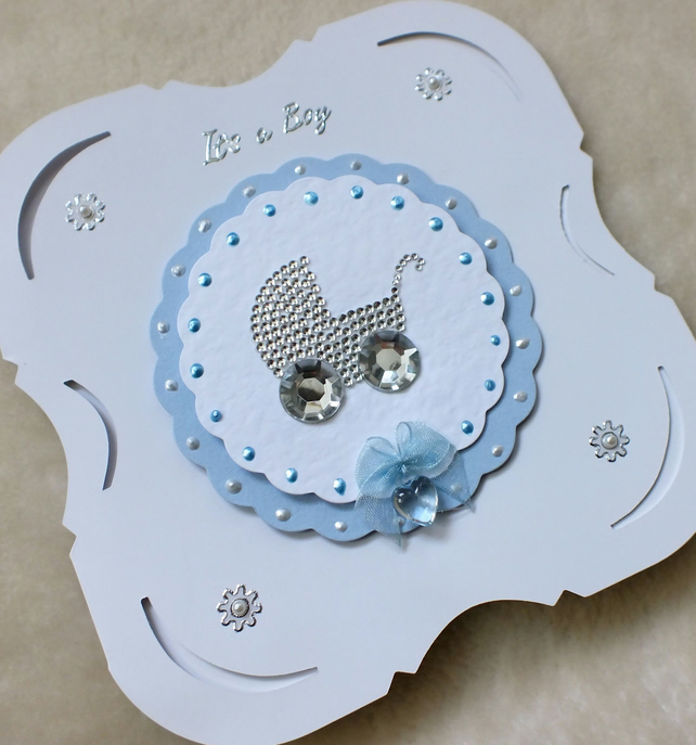New Baby It S A Boy Handmade Card Folksy