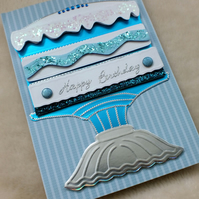 Luxury Handmade Birthday Cake Card