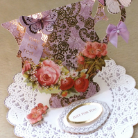 Luxury Handmade Tea Cup Mother's Day Card