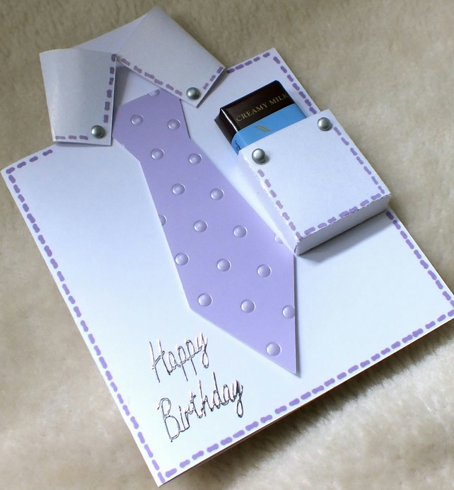 Handmade Birthday Shirt & Tie Card with Fre... - Folksy