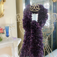 Sparkle Ruffle Scarf - Purple Mix