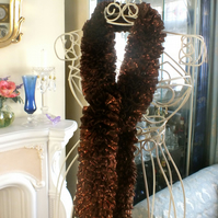Sparkle Ruffle Scarf - Chocolate Bronze Mix