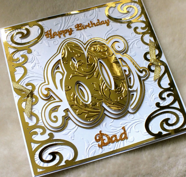 Luxury handmade dad 80th birthday card folksy luxury handmade dad 80th birthday card bookmarktalkfo Image collections