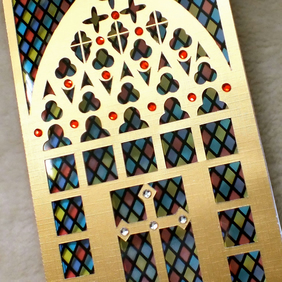 Luxury Handmade Sympathy Church Window Card