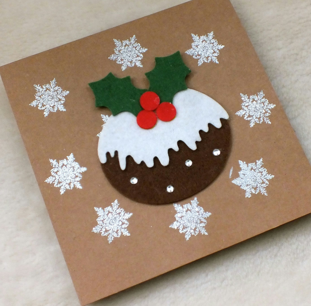 Handmade Christmas Pudding Card