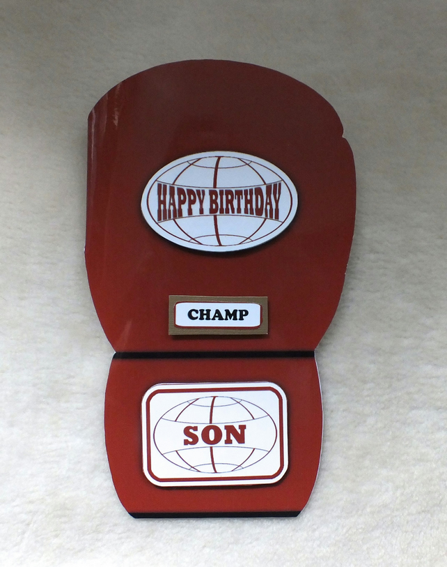 Cool Boxing Glove Shaped Birthday Card