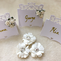 Beautiful Handmade Hearts Flourish Place Cards (Pack of 10)