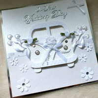 Luxury Handmade 3D Wedding VW Style Campervan Card