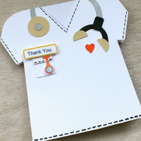 Special Doctor, Vet or Nurse Handmade Thank You Card