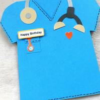 Special Doctor, Vet or Nurse Handmade Birthday Card