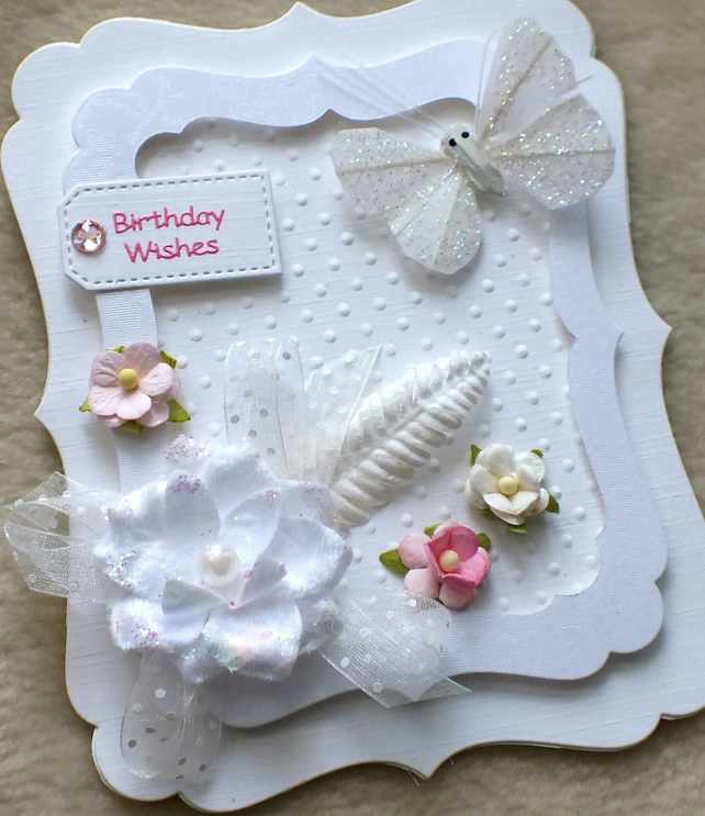 Luxury Handmade Fancy Frame Birthday Card Folksy – Handmade Luxury Birthday Cards