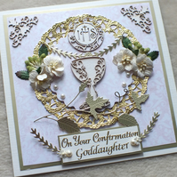 Luxury Personalised, Handmade Confirmation Card