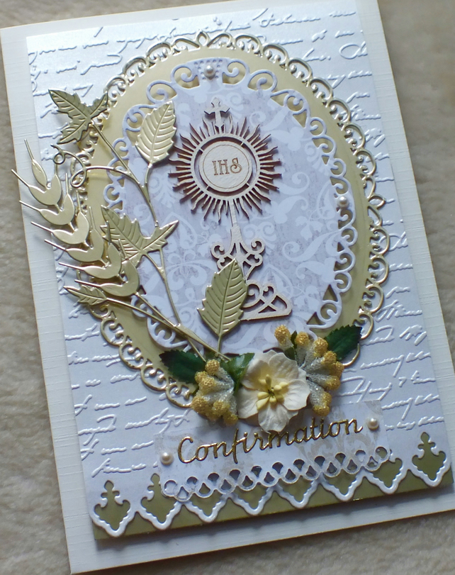 Luxury Handmade Confirmation Card