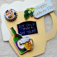 Handmade Father's Day Beer Mug Card