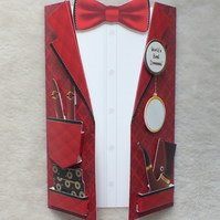 Special 3D Gentleman's Club Birthday Jacket Card