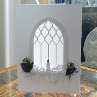 Luxury Handmade Window Sympathy Card