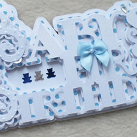 Luxury Handmade Baby's 1st Birthday Word Card