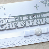 Personalised Handmade Christening Card