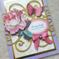 Luxury Handmade Granddaughter Birthday Card