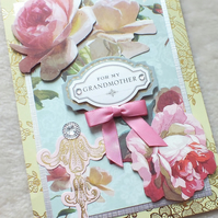 Luxury Handmade Grandmother Birthday Card