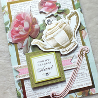 Luxury Handmade Aunt Birthday Card