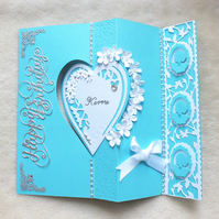 Luxury Handmade Personalised Tiffany Inspired Birthday Card