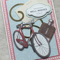 Luxury Handmade Bicycle Get Well Card